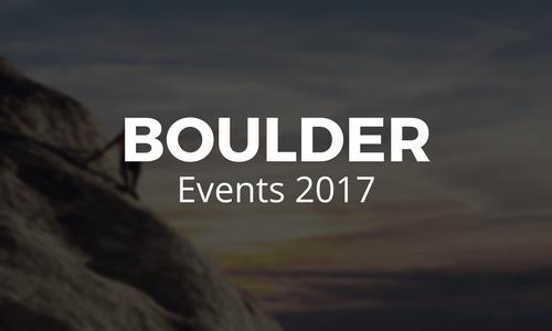 Boulder Events 2017