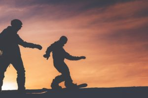 Snowboarding draussen