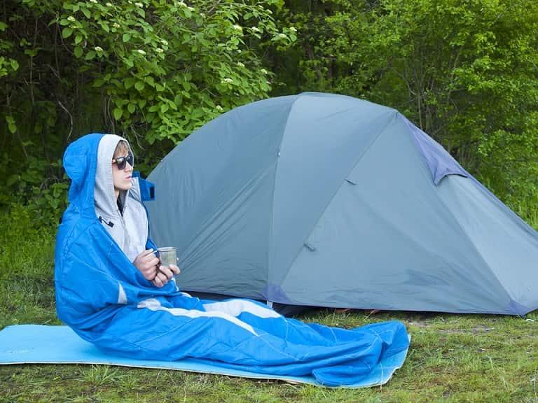 Schlafsack für Hüttentouren