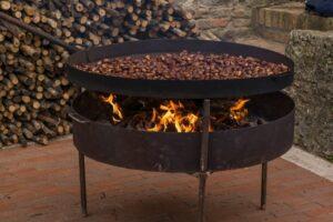 Feuerschale mit Grill